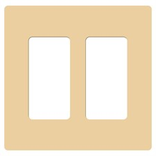 Lutron Claro Double Gang Wallplate